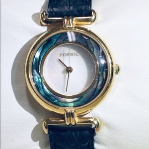 Vintage Fossil Abalone watch HE-3351